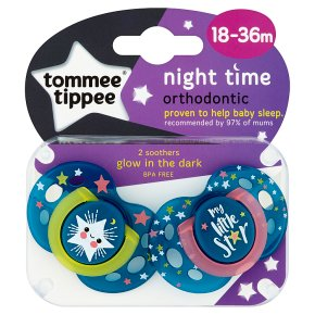 Tommee Tippee Night Time Soothers 18-36 months