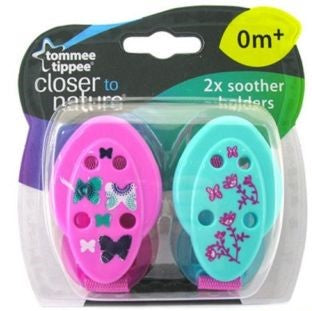 Tommee Tippee Closer to Nature 2 Soother Holders -  0 m+