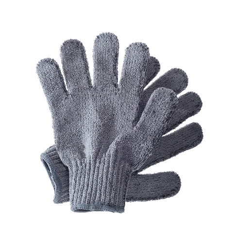 Hydrea London Carbonised Bamboo Exfoliating Shower Gloves - www.elegantgents.com