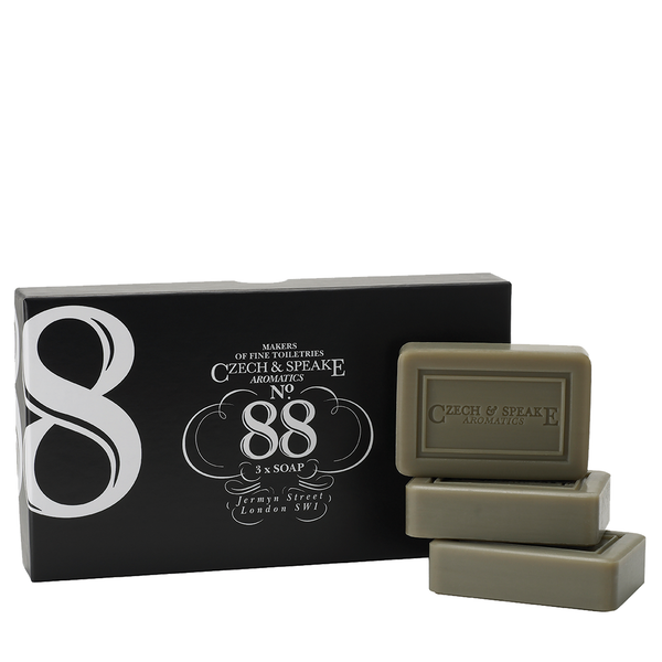 Czech & Speake No.88 Hand & Body Soaps 3x75g - www.elegantgents.com