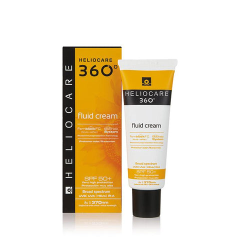 Heliocare 360° Fluid Cream SPF50+ 50ml - www.elegantgents.com
