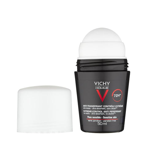 Vichy Homme 72Hr Extreme Anti-Perspirant Roll On 50ml - www.elegantgents.com