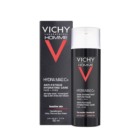 Vichy Homme Hydra Mag-C 2-In-1 Anti-Fatigue Moisturiser 50ml - www.elegantgents.com
