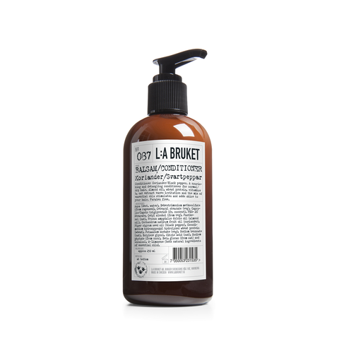 L:A Bruket Conditioner Coriander & Black Pepper 250ml - www.elegantgents.com