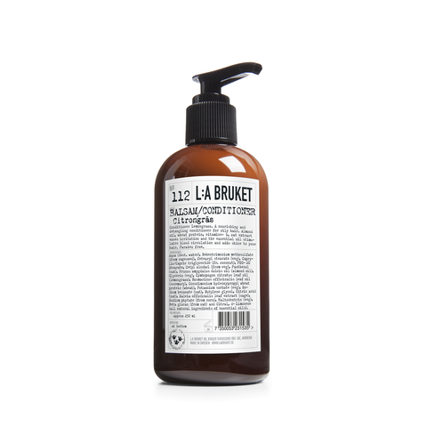 L:A Bruket Conditioner Lemongrass 250ml - www.elegantgents.com