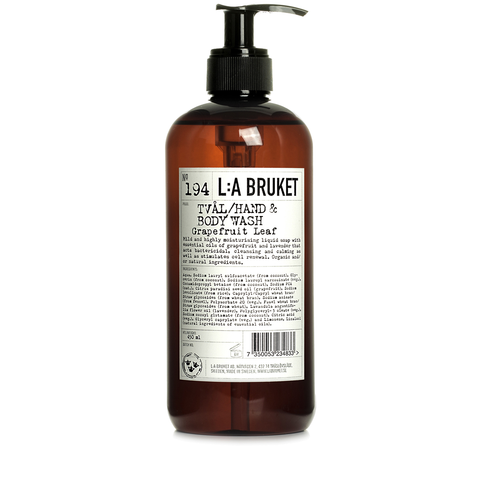 L:A Bruket Hand & Body Wash Grapefruit Leaf 450ml - www.elegantgents.com