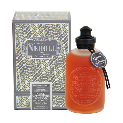 Czech & Speake Neroli Moisturising Body & Bath Oil 50ml - www.elegantgents.com