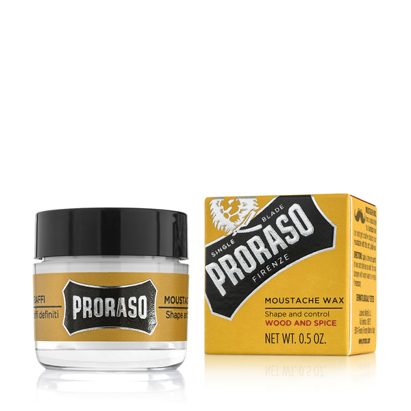 Proraso Moustache Wax Wood & Spice 15ml - www.elegantgents.com