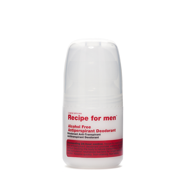 Recipe For Men Alcohol Free Antiperspirant Roll On Deodorant 60ml - www.elegantgents.com