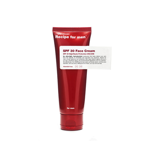 Recipe For Men SPF 30 Face Cream 75ml