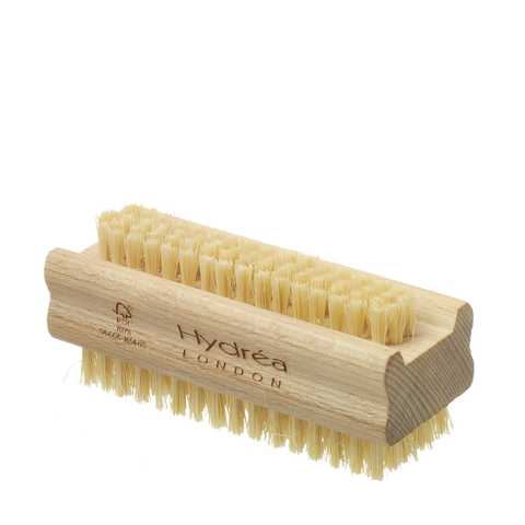 Hydrea London Extra Firm Beechwood & Cactus Bristle Nail & Hand Brush - www.elegantgents.com
