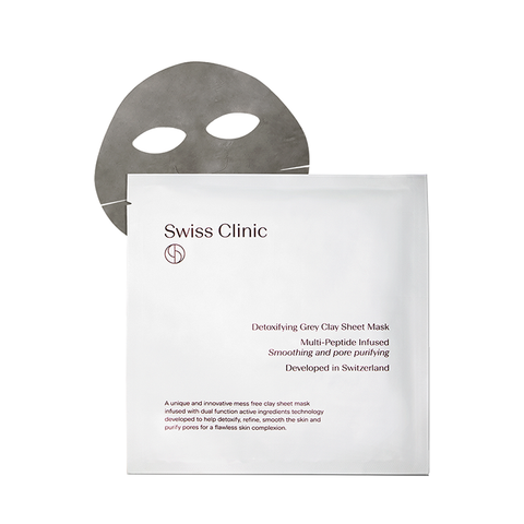 Swiss Clinic Detoxifying Grey Clay Sheet Mask (Triple) - www.elegantgents.com