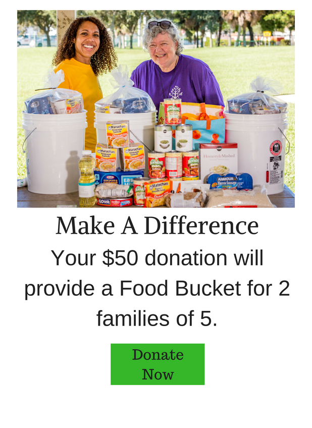 Food Bucket For 2 Families of 5