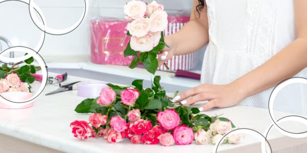 rules for decorating bouquets of roses