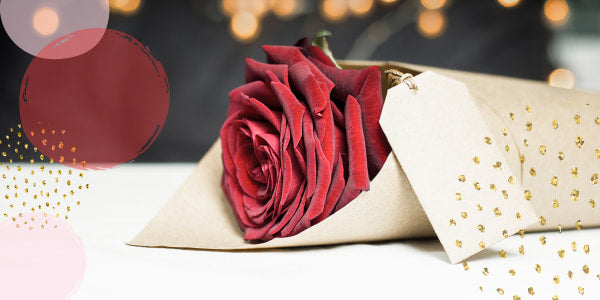 How to decorate one rose?