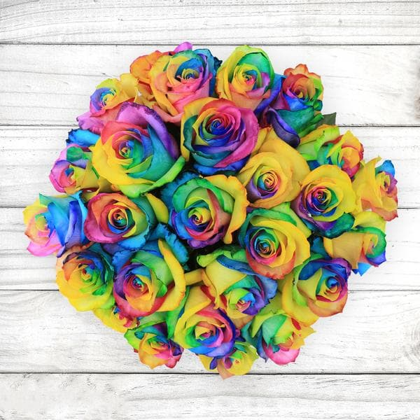rainbow flowers delivery