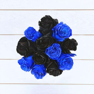 Black & Blue Rose Bouquet