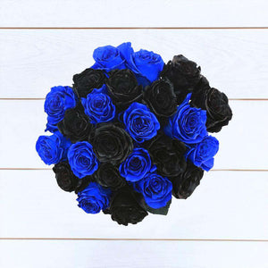 Black & Blue Roses Bouquet - Rosaholics
