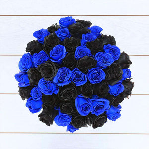 Black & Blue Roses Bouquet 2- Rosaholics