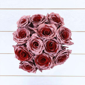Cherry Pie Rose Bouquet 12 - Rosaholics