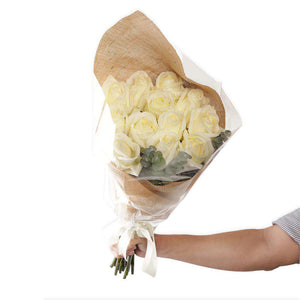 Casablanca White Rose Bouquet - Rosaholics