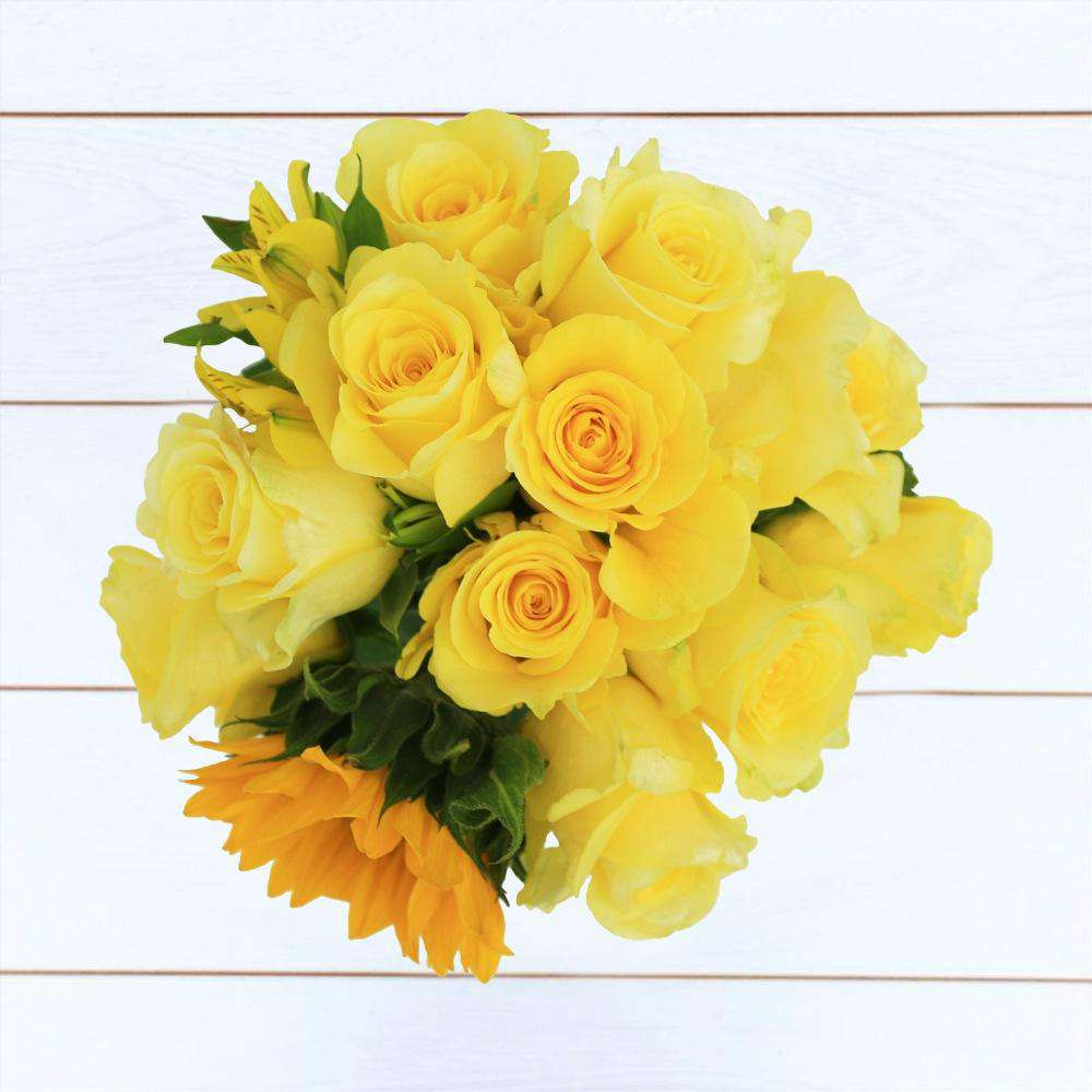 Golden Sun Flower Bouquet - Rosaholics