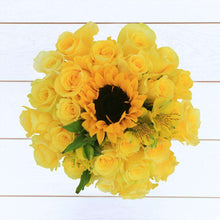 Load image into Gallery viewer, Golden Sun Flower Bouquet - Rosaholics