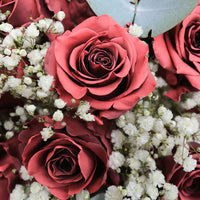 Load image into Gallery viewer, Maroon Unique Rose Bouquet