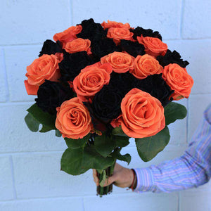 Pumpkin Rose Bouquet - Rosaholics