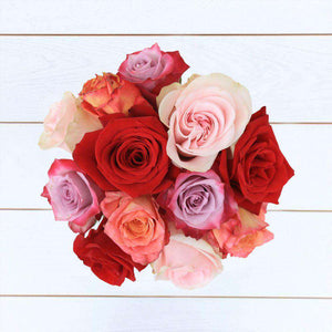 Romantic Rose Bouquet 12st - Rosaholics