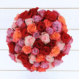 Romantic Rose Bouquet 48st - Rosaholics