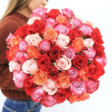 Load image into Gallery viewer, Romantic Rose Bouquet gift- Rosaholics