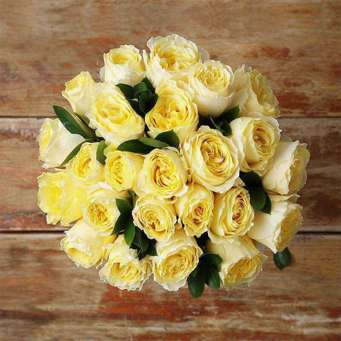 Sunshine Garden Rose Bouquet - Rosaholics