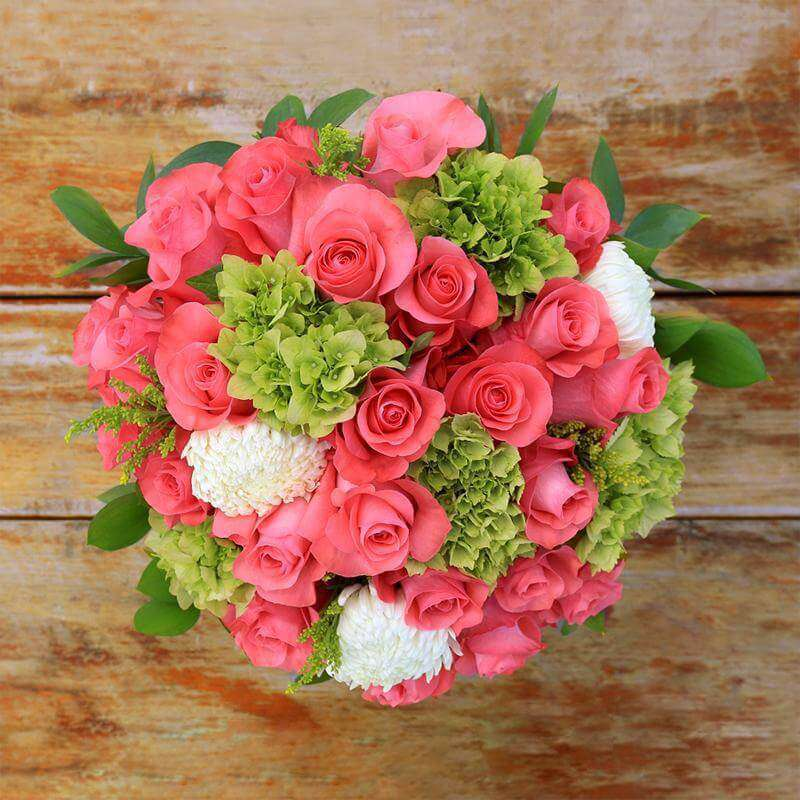 Pink Lemonade Fresh Flower Bouquet - Rosaholics
