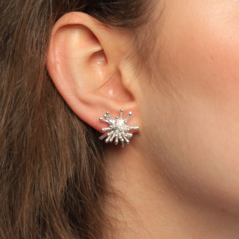 Explosion Silver Earrings