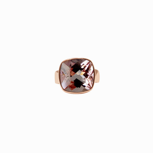 Morganite Rose Gold Vanity Ring