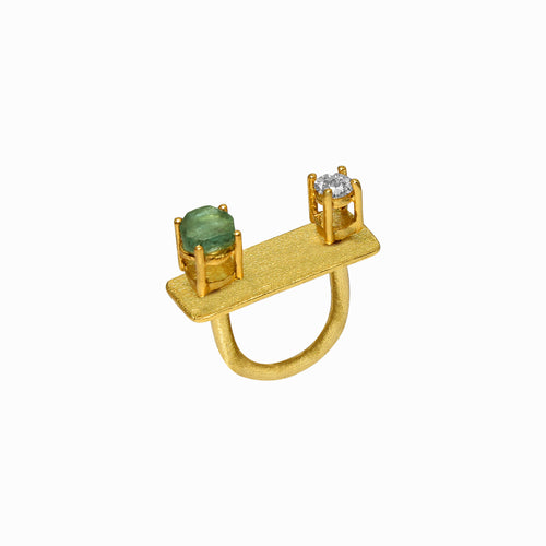 Dual Gemstone Ring