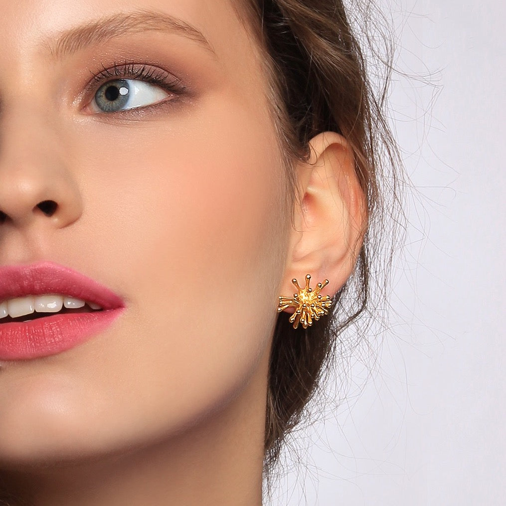 Explosion Gold Earrings