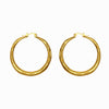 Textured Thick Gold Hoops