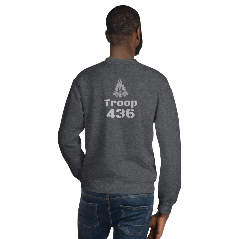 Troop Number Unisex Sweatshirt (Customize) with Campfire logo