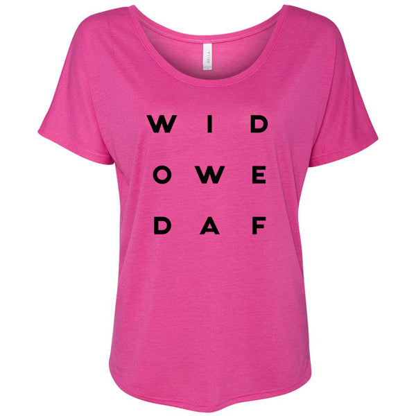 Widowed AF Letter Style Women's Slouchy Tee
