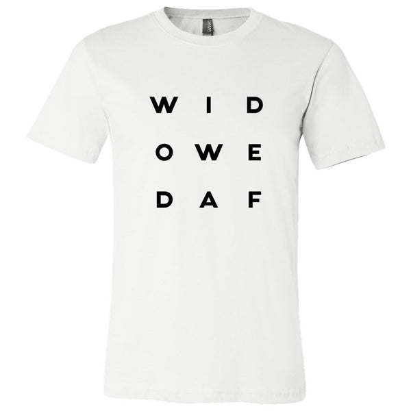 "Widowed AF"" Letter Style Unisex Short Sleeve Jersey Tee"