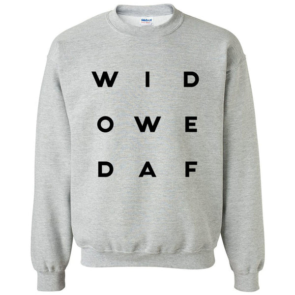 Widowed AF Heavy Blend Crewneck Sweatshirt