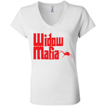 Widow Mafia Women's Short Sleeve Jersey V-Neck Tee