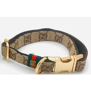 Luxury fashion designer monogram collar, bow tie and leash- Dropship