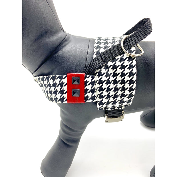 Xolotl fashion houndstooth dog harness - puccissime pet couture