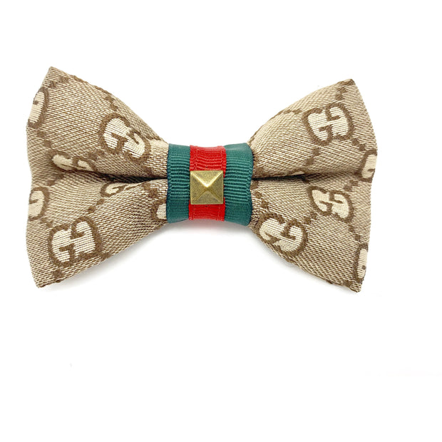 Luxury monogram Gucci dog bow tie