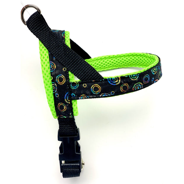 Personalized neon tie dye one-click harness