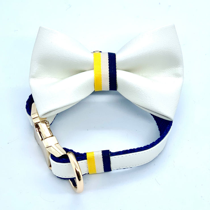Sunrise bow tie--Puccissime Pet Couture