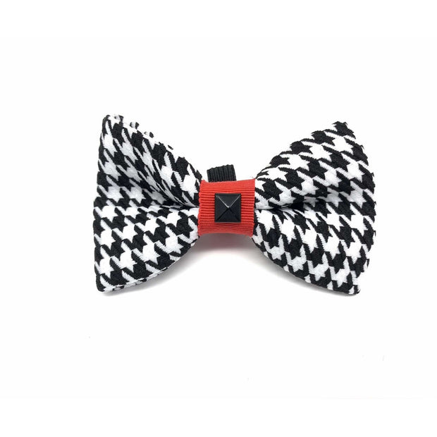 Xolotl fashion houndstooth dog collar bow tie accessories - puccissime pet couture